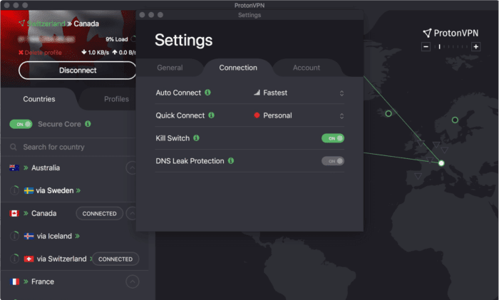 protonvpn proton vpn dns leak killswitch always on vpn
