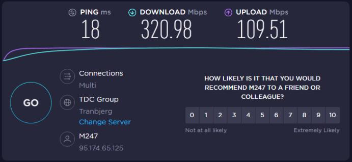 VPN hastighedstest
